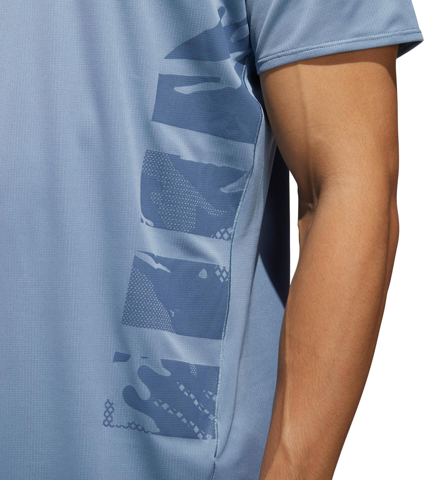 adidas Supernova T shirt de running Homme, raw grey